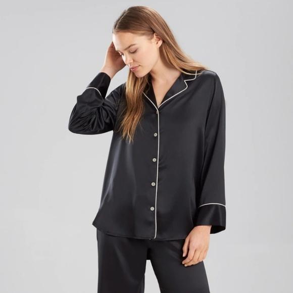 Natori Other - Natori   Dark Blue Charmeuse Pajama Top